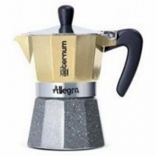 Гейзерная кофеварка Bialetti Aeterum Allegra Petra Platino 3 порции платина СЛ