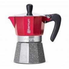 Гейзерная кофеварка Bialetti Aeterum Allegra Petra Rouge 3 порции красная СЛ