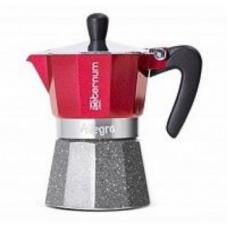 Гейзерная кофеварка Bialetti Aeterum Allegra Petra Rouge 6 порций красная СЛ