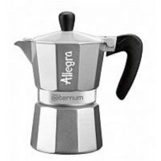 Гейзерная кофеварка Bialetti Aeterum Allegra Petra Silver 3 порции серебристая СЛ