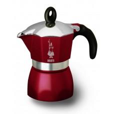 Гейзерная кофеварка Bialetti Dama Glamour 3 порции (бордо)