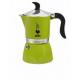 Гейзерная кофеварка Bialetti Fiametta Lime 3 порции салатовая СЛ