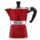 Гейзерная кофеварка Bialetti Moka Express EMOTION RED 6 порций красная СЛ