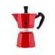 Гейзерная кофеварка Bialetti Moka Express red 3 порции красная СЛ