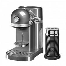 Капсульная кофемашина KitchenAid Nespresso серебряный медальон и Aeroccino 3 5KES0504EMS